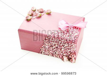 Beautiful casket isolated on white