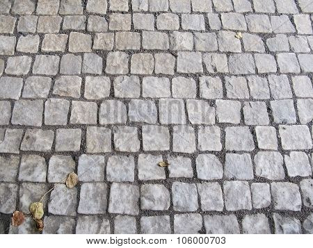 Old charming cobble stone surface
