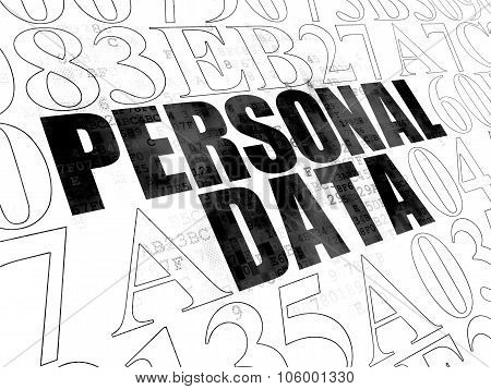 Data concept: Personal Data on Digital background