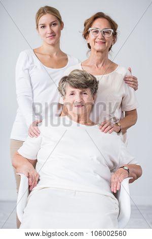 Senior Woman, Daughter And Granddaughter