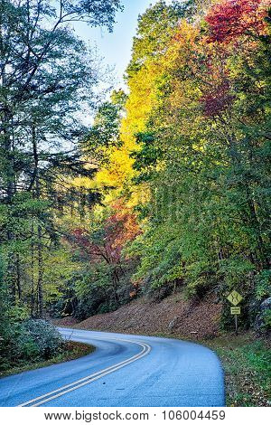 Stone Mountain North Carolina Scenery During Autumn Season