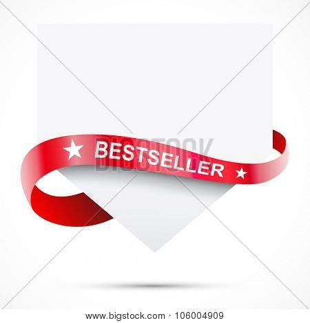 Sale tag. Blank paper with ribbon