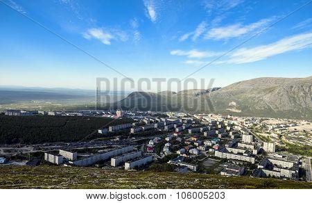 Kirovsk bird's-eye view ...