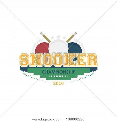 Snooker championship emblem vector