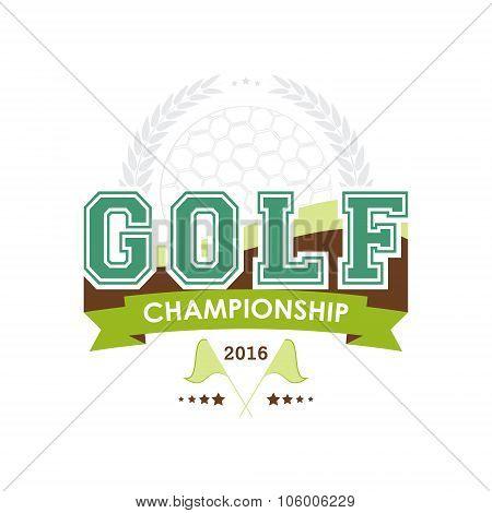 Golf championship emblem vector