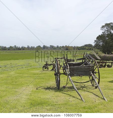 Ancient Wooden Carriage