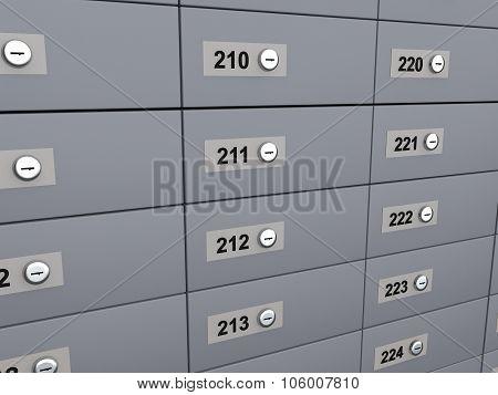3d render of deposit boxes