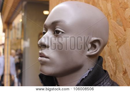 Black Male Mannequin Head