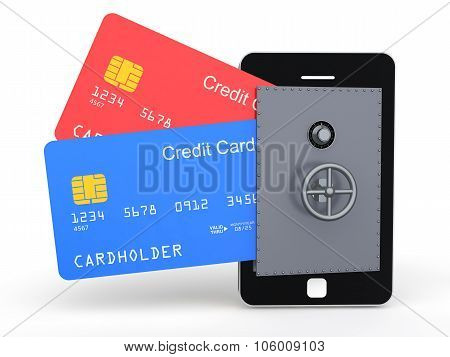 3d credit cards in mobile vault