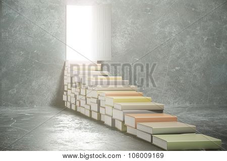 Steps From Book Into The Open Door