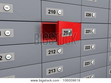 3d unique open deposit box