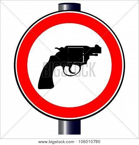 Gun Road Sign