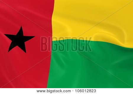 Waving Flag Of Guinea-bissau - 3D Render Of The Bissau-guinean Flag With Silky Texture