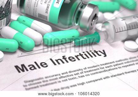 Male Infertility. Medical Concept with Blurred Background.
