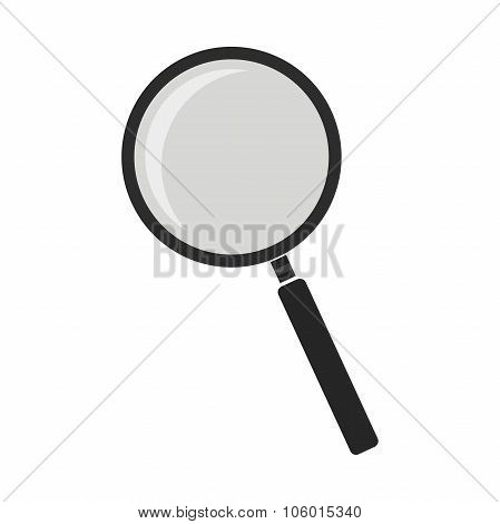 Magnifying glass tool. No outline