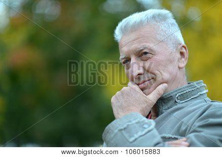 elderly man in park