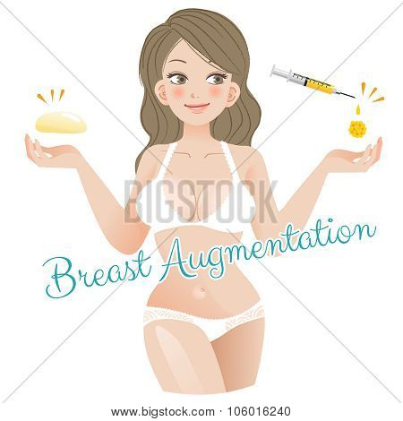 Curvy Woman Breast Augmentation Concept