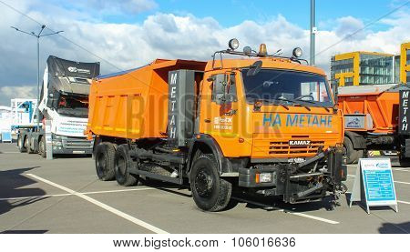 Truck With Special Equipment On Methane