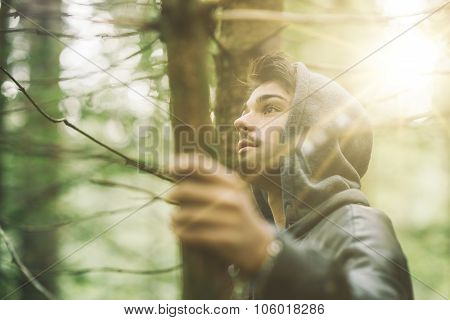 Hooded Guy In The Woods