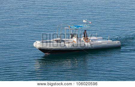 Small Pilot Boat With Man On Board
