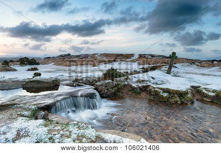 Snowy Dartmoor