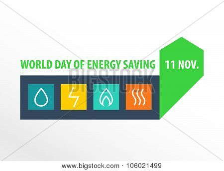World day of energy saving.