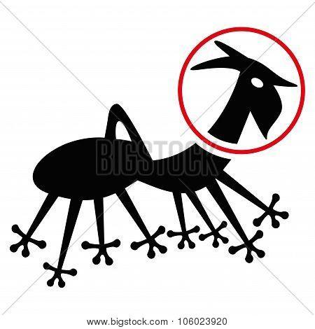 Alien Creature Skafandr Flat Icon