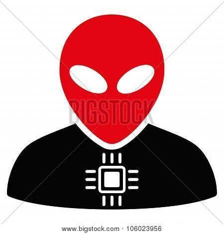 Alien Cyborg Flat Icon
