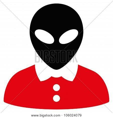 Alien Female Flat Icon
