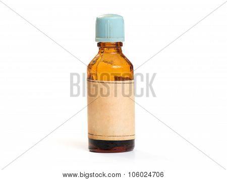 Retro Glass Medical Bottle