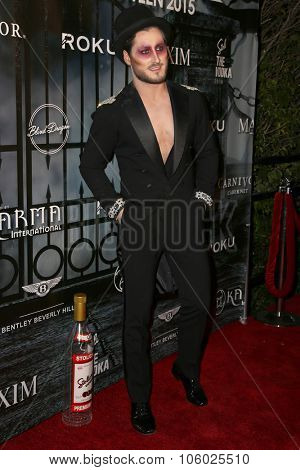 LOS ANGELES - OCT 24:  Valentin Chmerkovskiy at the MAXIM Magazine's Official Halloween Party at the Private Estate on October 24, 2015 in Beverly Hills, CA