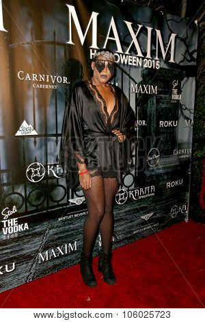 LOS ANGELES - OCT 24:  EJ Johnson at the MAXIM Magazine's Official Halloween Party at the Private Estate on October 24, 2015 in Beverly Hills, CA