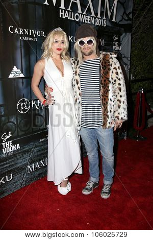 LOS ANGELES - OCT 24:  BC Jean, Brittany Jean Carlson, Mark Ballas at the MAXIM Magazine's Official Halloween Party at the Private Estate on October 24, 2015 in Beverly Hills, CA