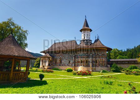 Sucevita Romania July 06 2015: Sucevita Monastery one of the famous painted monasteries in Romania U