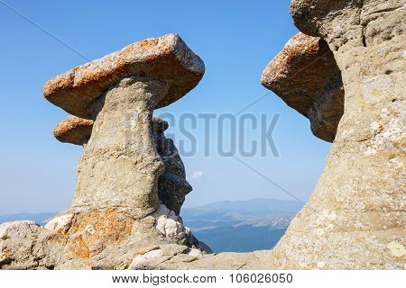 Babele - Geomorphologic Rocky Structures In Bucegi Mountains, Romania