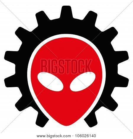 Alien Technology Flat Icon