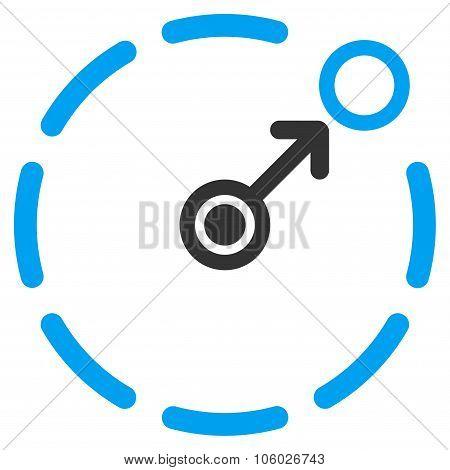 Circular Area Border Icon