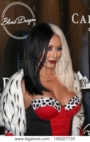 LOS ANGELES - OCT 24:  Aubrey O'Day at the MAXIM Magazine's Official Halloween Party at the Private Estate on October 24, 2015 in Beverly Hills, CA