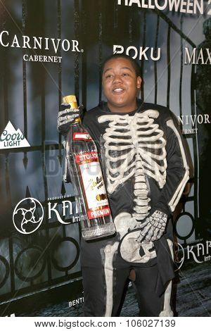 LOS ANGELES - OCT 24:  Kyle Massey at the MAXIM Magazine's Official Halloween Party at the Private Estate on October 24, 2015 in Beverly Hills, CA