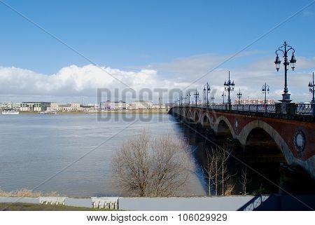 Bordeaux View With Bridge