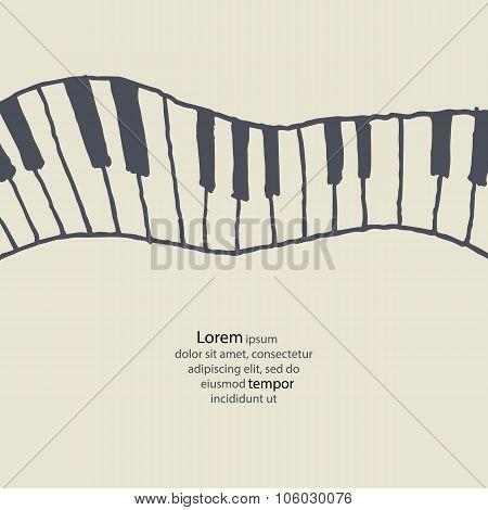 Piano keys sketch.