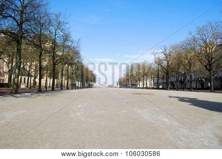 Square Near The Castle In Nantes
