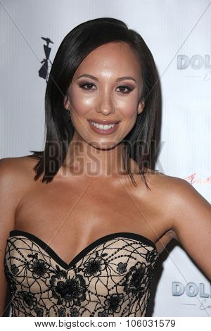 LOS ANGELES - OCT 25:  Cheryl Burke at the Internation Film Fashion Awards at the Saban Theater on October 25, 2015 in Los Angeles, CA