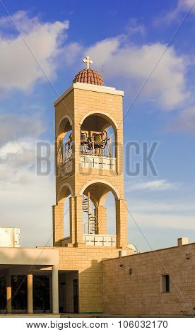 Belfry of Panayia Church in Agia Napa, Cyprus