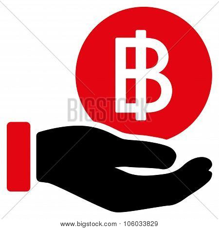 Thai Baht Coin Payment Icon
