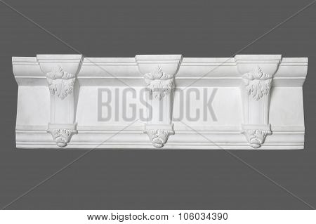 White Stucco Moulding, Elements Of Wall Design