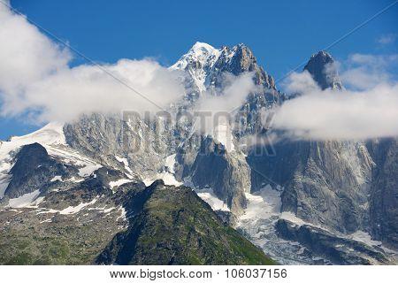 Aiguille Verte and Dru Peak, Aiguilles du Chamonix, Mont Blanc Massif, Alps, France