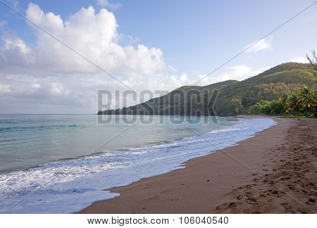 Beach of Grande Anse, Deshaies, Guadeloupe