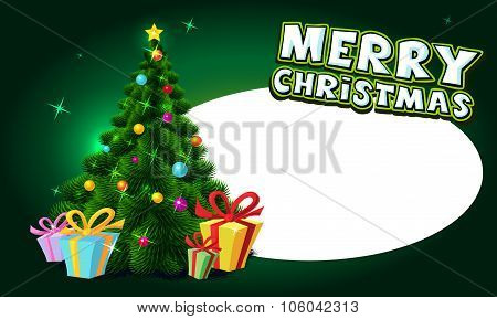 Christmas Tree - Vector Illustration
