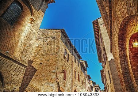 Old Buildings In San Gimignano In Hdr